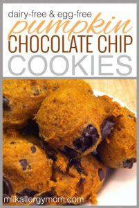 Pumpkin Chocolate Chip Cookies {Dairy-Free & Egg-Free}