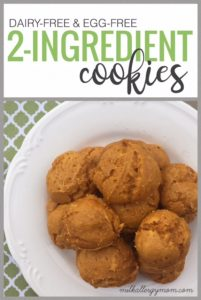 2-Ingredient Pumpkin & Cake Mix Cookies {Dairy-Free & Egg-Free}