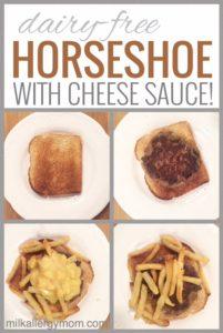 Horseshoe with Cheese Sauce {Dairy-Free}