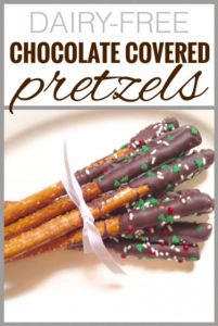 Chocolate Covered Pretzels {Dairy-Free}
