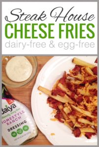 Steak House Bacon Ranch Cheese Fries {Dairy-Free}