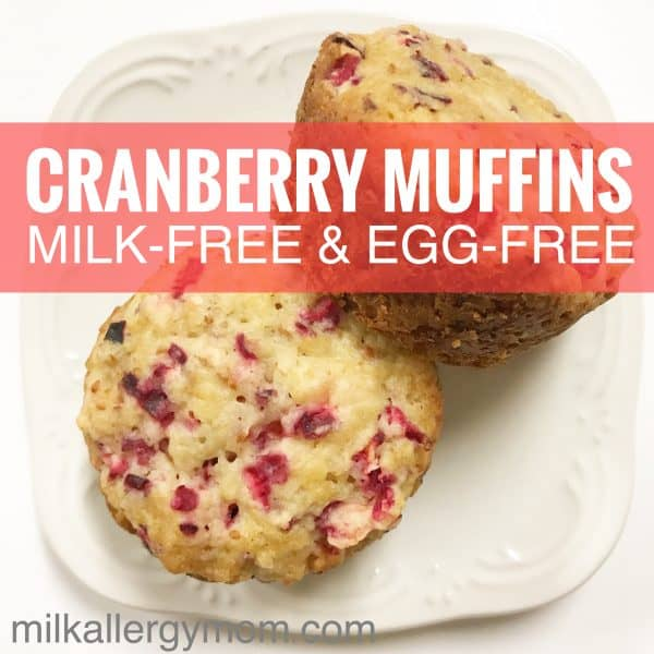 Dairy-Free & Egg-Free Cranberry Bread Muffins