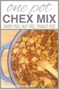 One Pot Dutch Oven Chex Mix {Dairy-Free, Nut-Free, Peanut-Free}