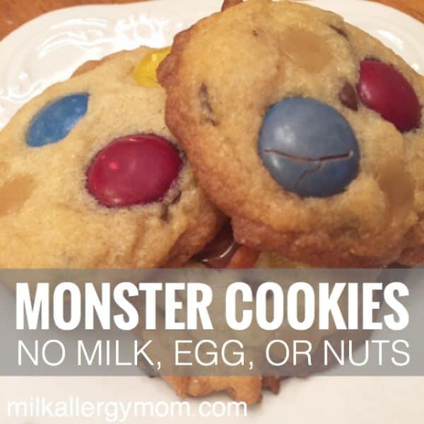 Dairy Free & Egg Free Monster Cookies Vegan! #dairyfree #dairyfreecookies