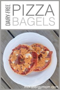 Frozen Dairy-Free Bagel Pizzas