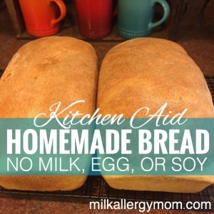 Kitchen Aid Homemade Bread {Dairy-Free, Egg-Free, Soy-Free}