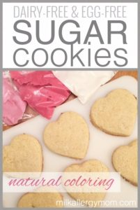 Sugar Cookies {Dairy-Free, Egg-Free, Natural Color}