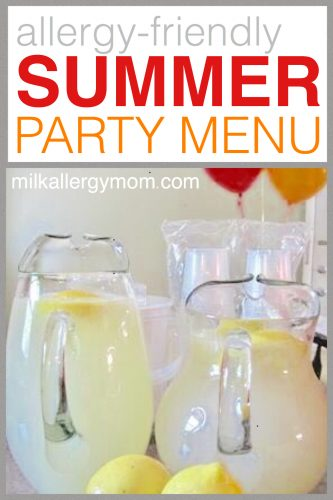 Allergy-Friendly Summer Party Menu