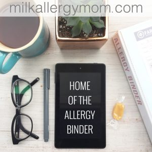 Milk Allergy Mom's Food Allergy Binder