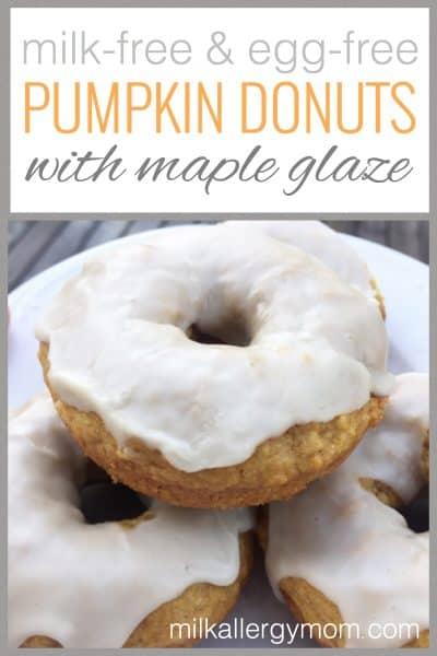 Milk-Free & Egg-Free Pumpkin Donuts