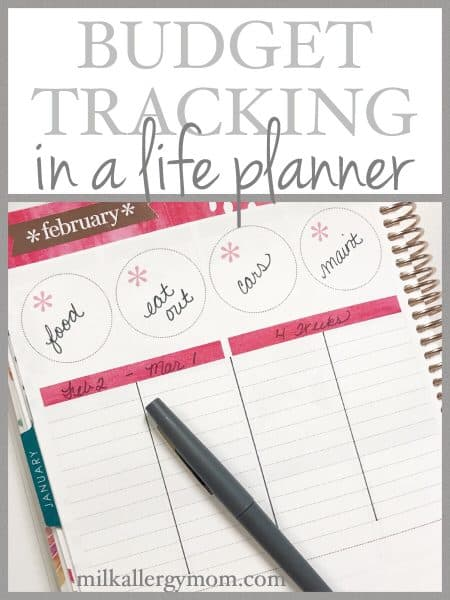 Budgeting with My Erin Condren Life Planner