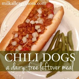 Simple Dairy-Free Dinner: Chili Dogs