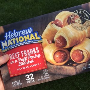 Milk-Free Find ~ Hebrew National Beef Franks in a Blanket (VIDEO)