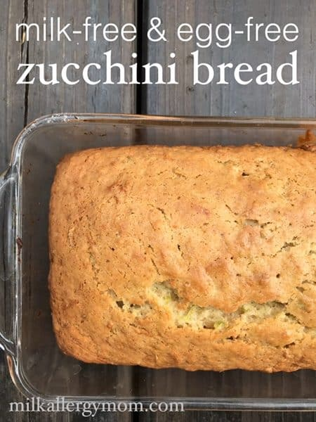 Milk-Free and Egg-Free Zucchini Bread