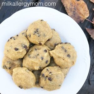 Pumpkin Chocolate Chip Cookies {Dairy-Free & Egg-Free}