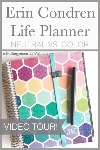 Erin Condren Life Planner Color Versus Neutral