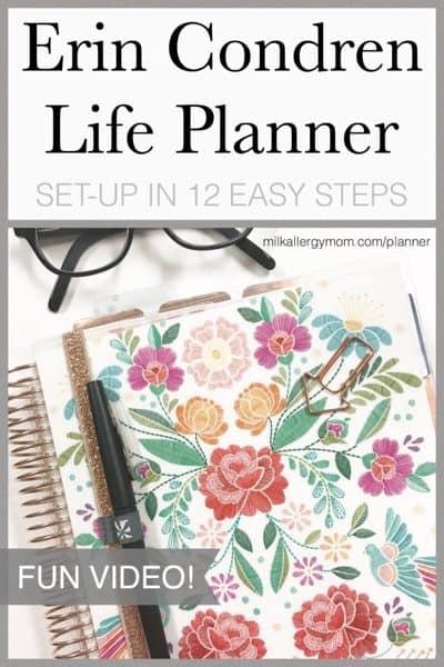 12 Easy Steps for Setting Up Your Erin Condren Life Planner