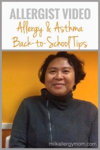 Allergist Interview: Back-To-School (VIDEO)