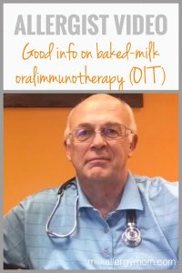Allergist Interview: Baked-Milk Oralimmunotherapy (OIT) VIDEO
