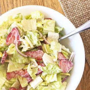 Strawberry Romaine Salad {Dairy-Free}