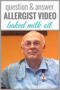 Allergist Video: Baked-Milk Oralimmunotherapy (OIT)