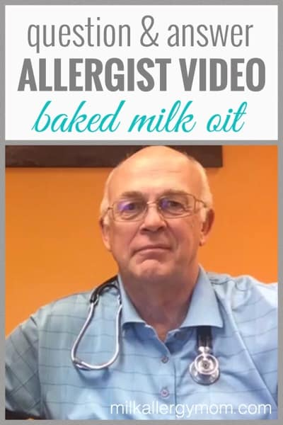 Milk Allergy Treatment with Baked Dairy Therapy