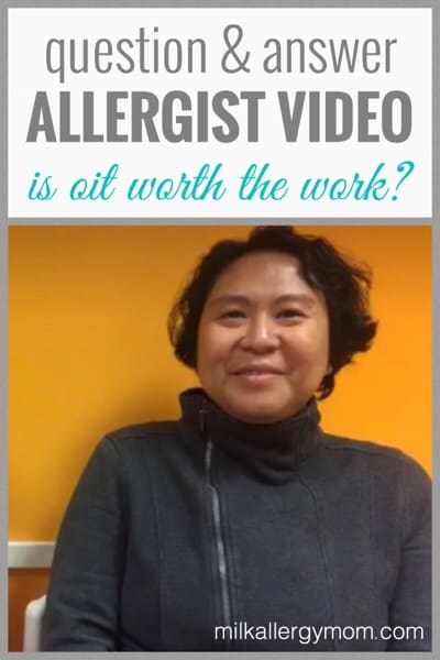 Allergist Video Interview about Our Milk Allergy Treatment