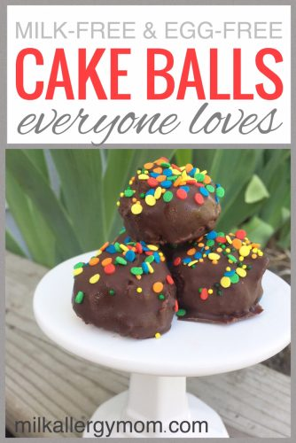 Milk-Free and Egg-Free Cake Pops