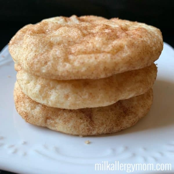 The BEST Milk-Free and Egg-Free Snickerdoodle Cookies