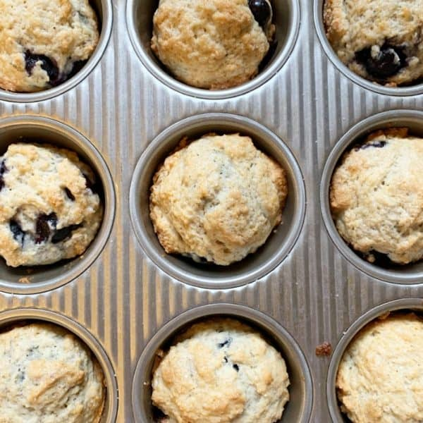 Milk and Egg Free Blueberry Muffins Recipe