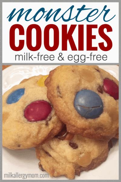 Vegan Monster Cookies Recipe! #dairyfree #eggfree