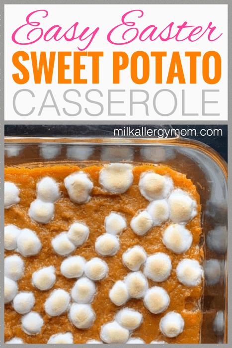allergy friendly sweet potato casserole