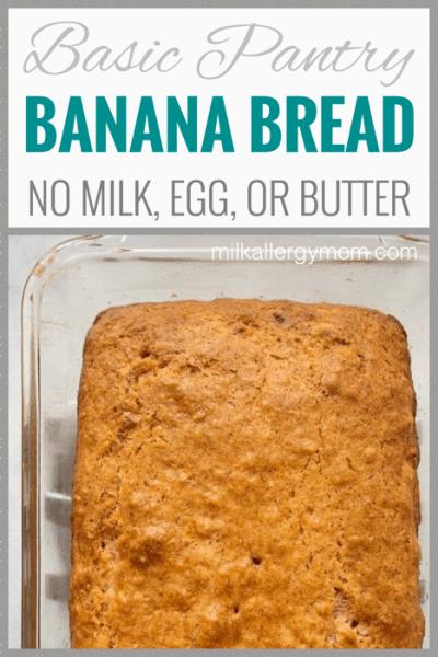Banana Bread No Milk or Egg