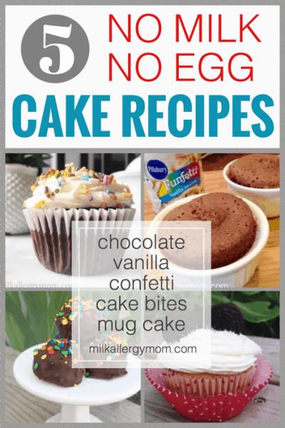 5 Cake Recipes No Milk or Egg