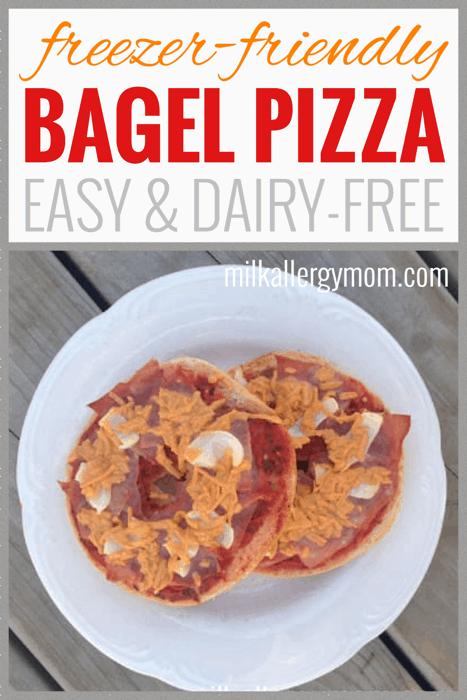 Freezer Bagel Pizza