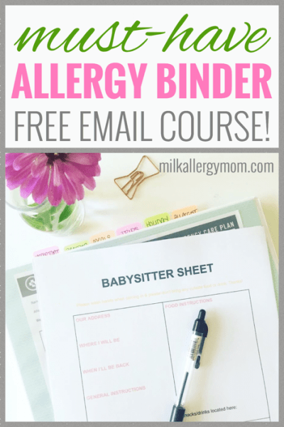 Free Food Allergy Binder Challenge