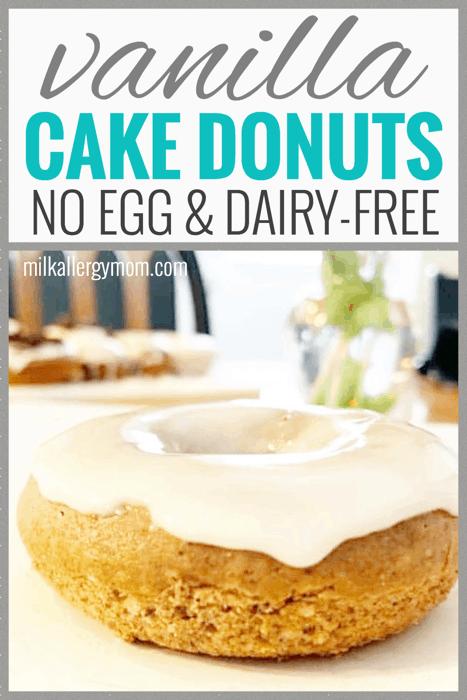 Vanilla Cake Donuts No Egg or Yeast