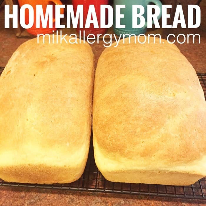 homemade bread dairy free