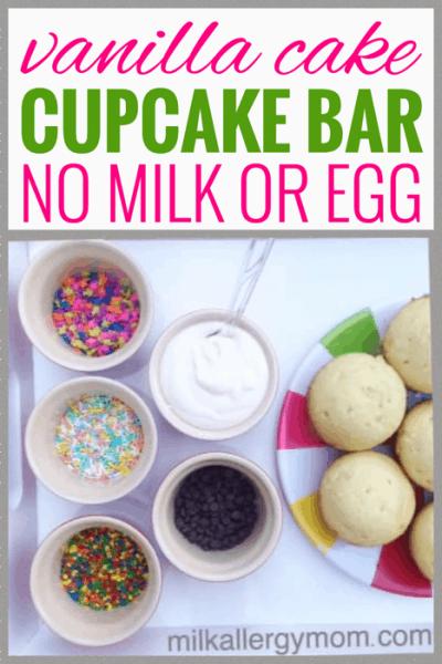 Vanilla Cupcake Bar No Milk or Egg