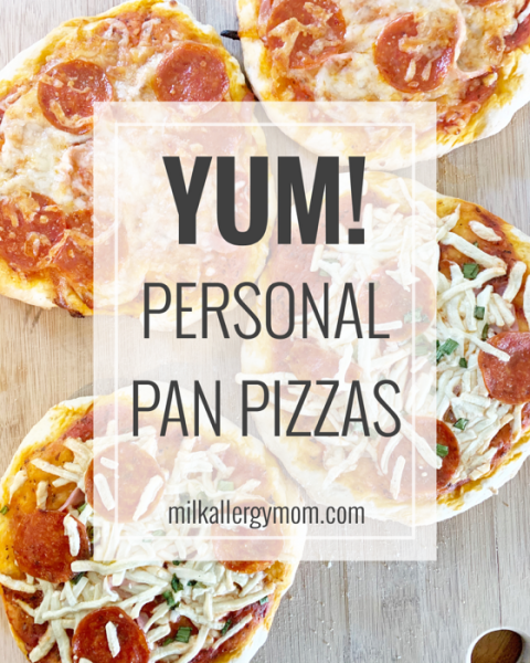 Dairy Free Personal Pizzas