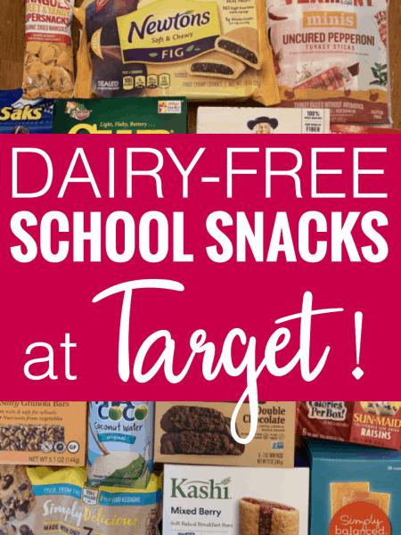 Dairy-Free Target School Snacks