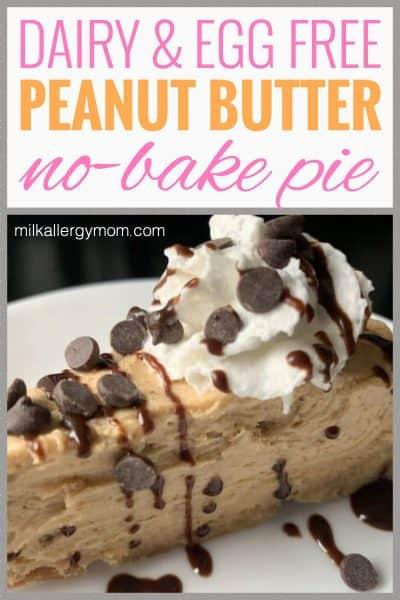 Peanut Butter Pie Dairy-Free
