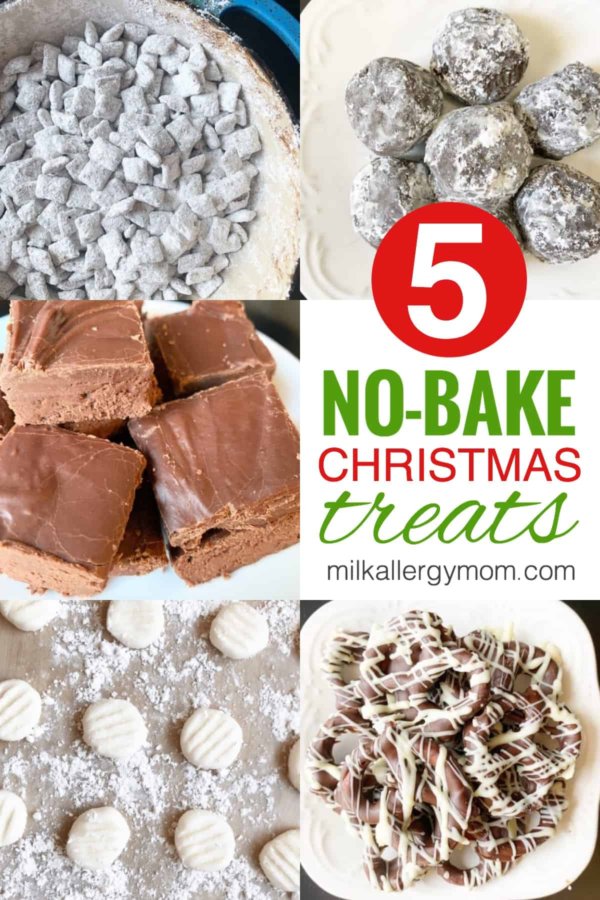 Dairy-Free No Bake Christmas Treats
