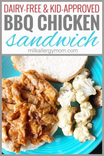 dairy free bbq chicken sandwich