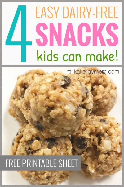 4 dairy free kid snacks