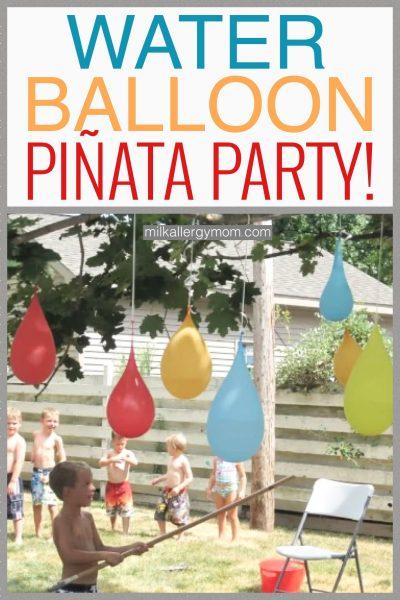 water balloon pinata party