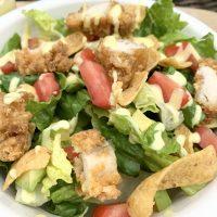 chicken tender salad honey mustard dressing